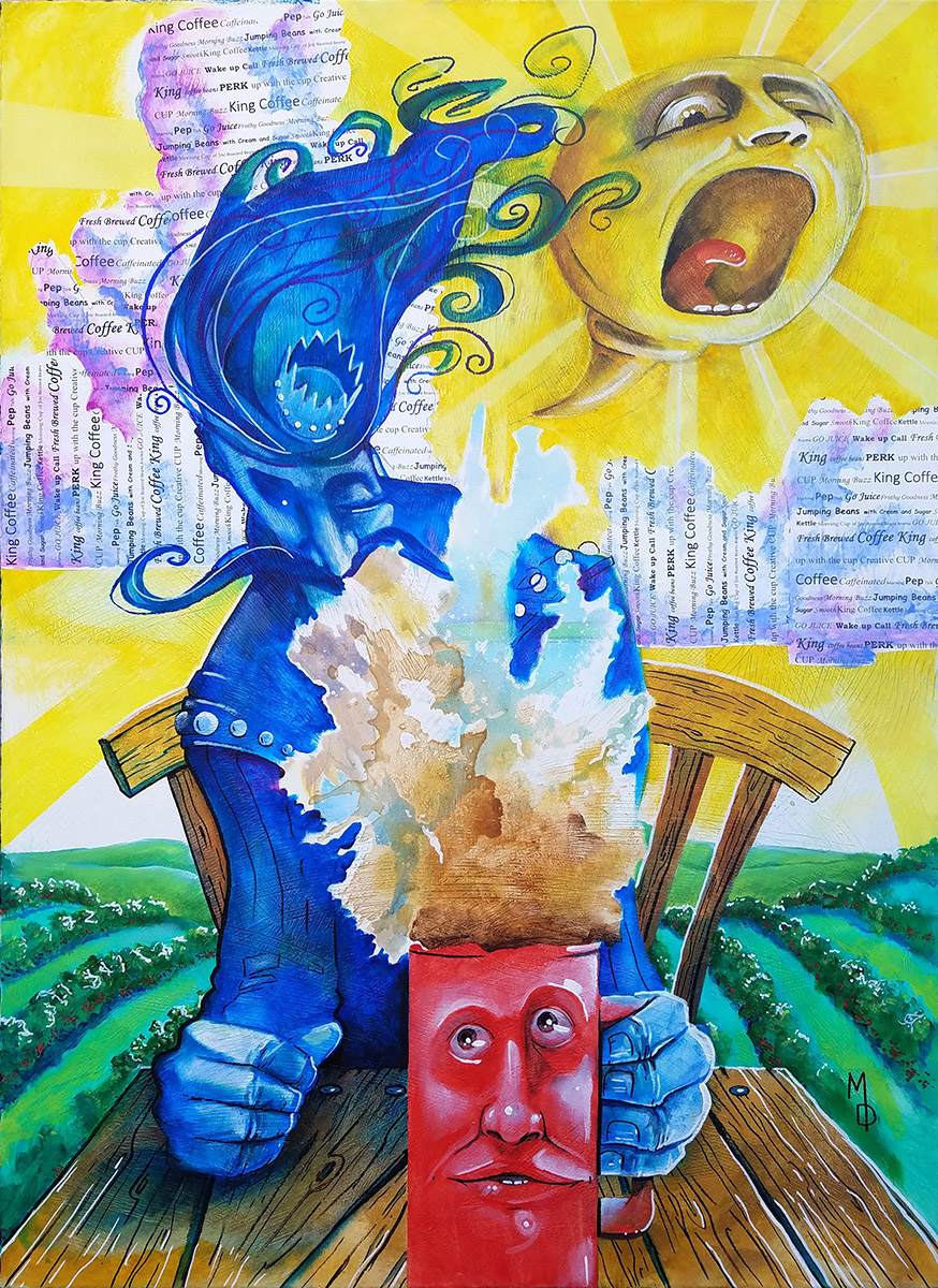Coffee King | Original Painting by Miles Davis | Massive Burn Studios Art