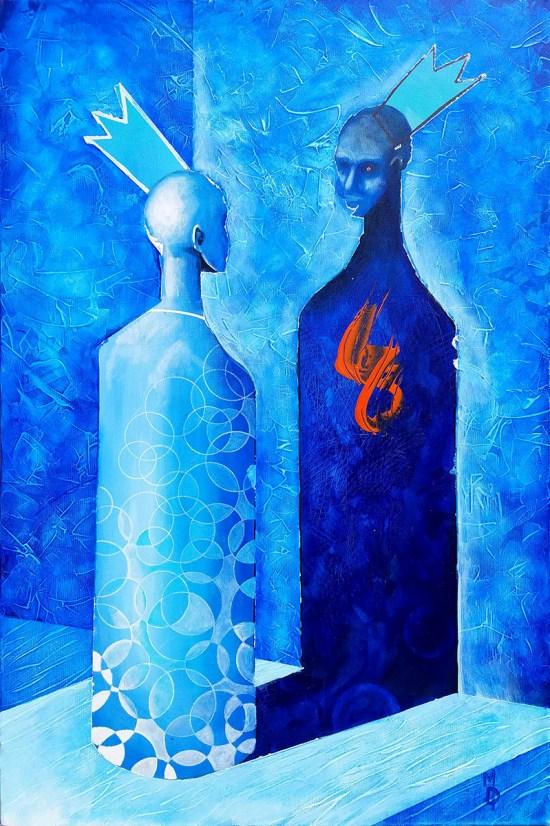 Face Off   Original Painting by Miles Davis   Massive Burn Studios Art