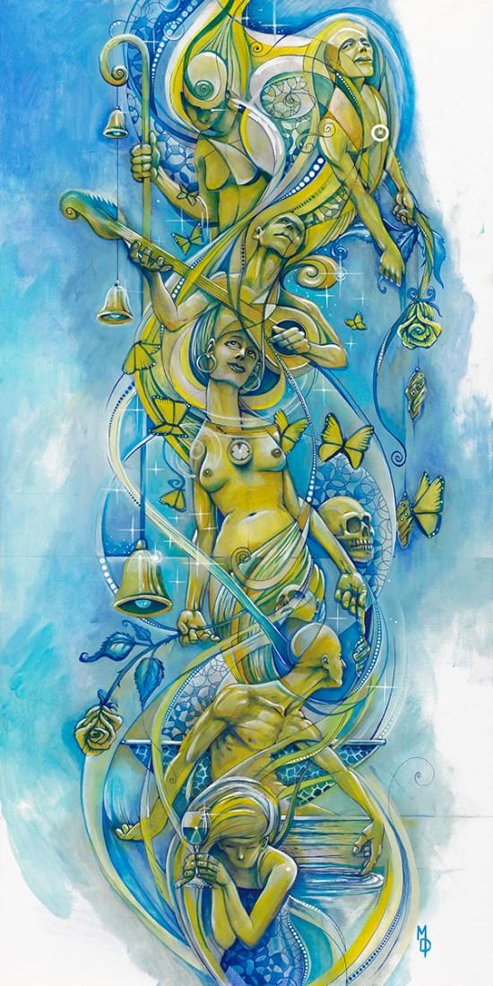 Metamorphosis   Totem Series     Original Painting by Miles Davis   Massive Burn Studios Art