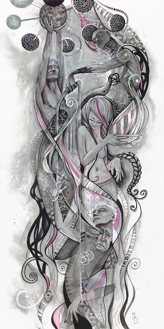 Infusion   Totem Series   Original Painting by Miles Davis   Massive Burn Studios Art