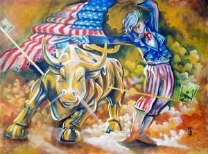 The Dance Original Painting by Neo Surrealist Painter Miles Davis | Massive Burn Studios