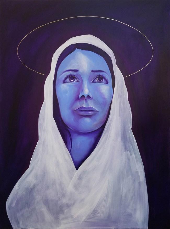 Mother | Painting of the Virgin Mary by Atlanta Artist Miles Davis | Massive Burn Studios