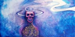 Ominous | Original Painting by Miles Davis | Massive Burn Studios