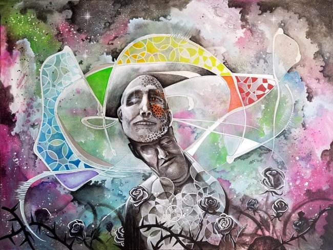 Galactus | Original Painting by Pop Surrealist Miles Davis | Massive Burn Studios