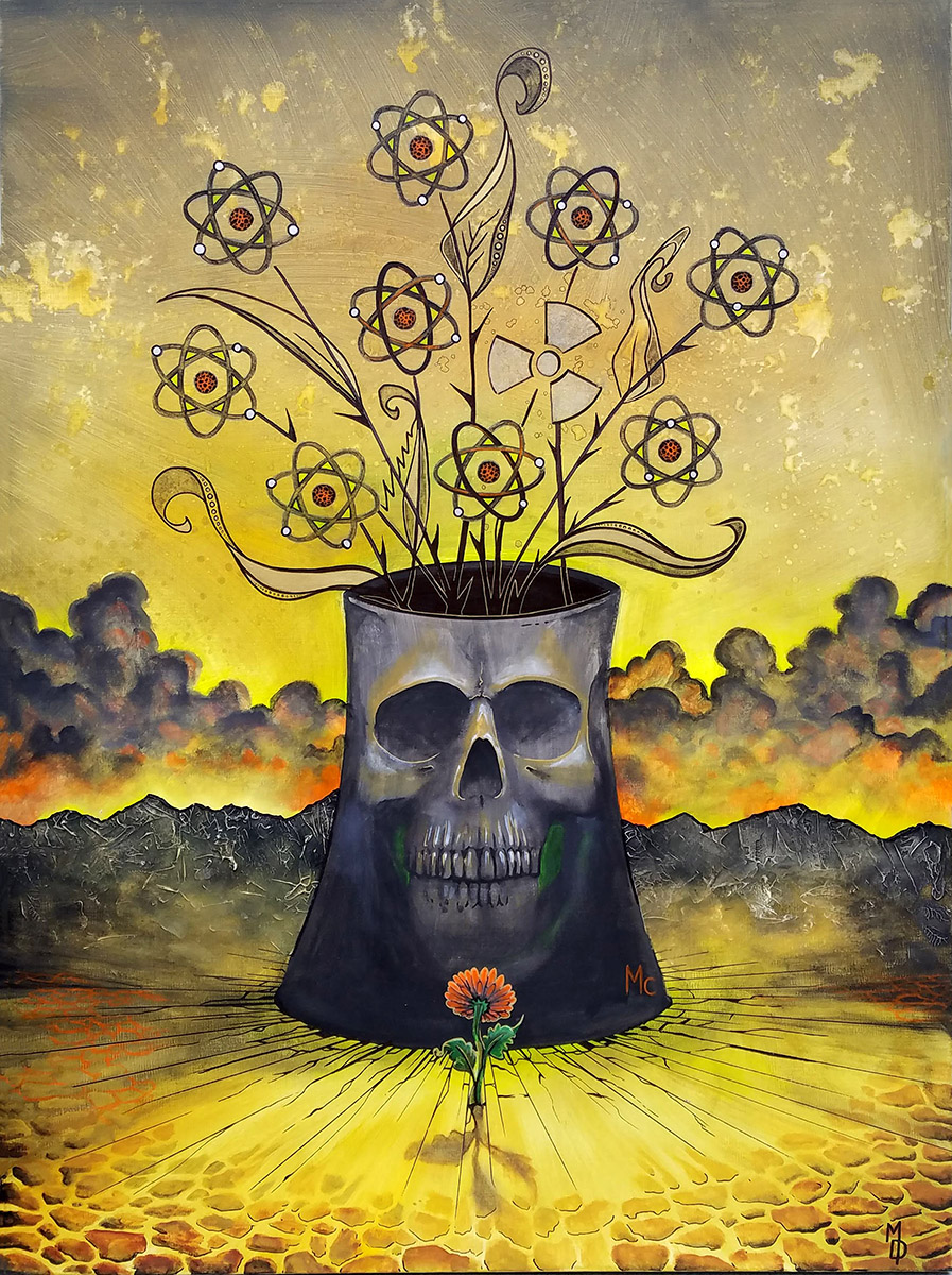 Hope of Conrad's Bouquet | Original Painting by Miles Davis | Massive Burn Studios