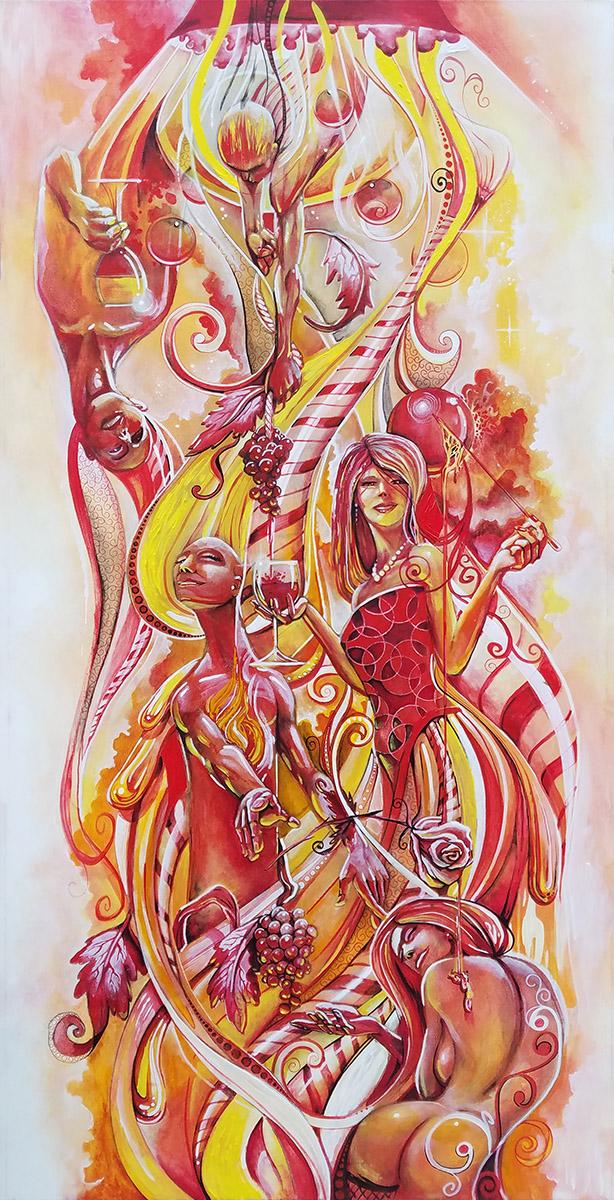 Peppermint Nectar   Original Artwork by Miles Davis   Massive Burn Studios