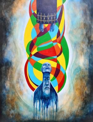 Elevating the Aura | Original Painting by Modern Surrealist Artist Miles Davis | Massive Burn Studios
