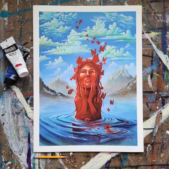 Fleeting Love | Limited Edition Giclee Prints by Miles Davis | Massive Burn Studios