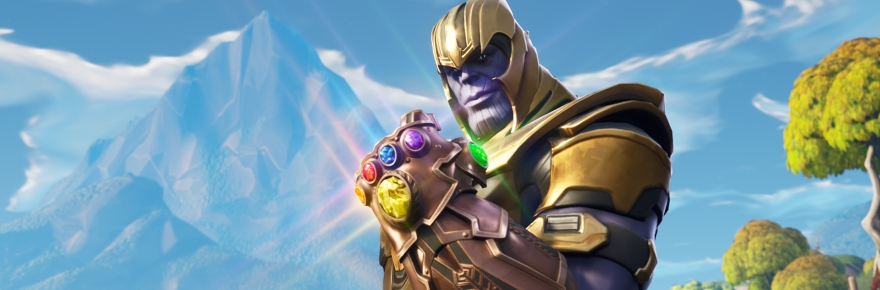 Fortnites Crossover Thanos Now Wields The Nerf Gem