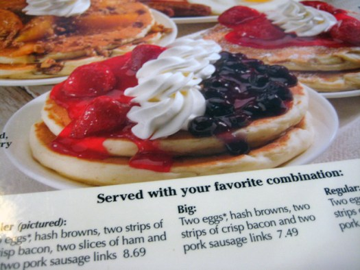 hello IHOP my old friend... I've come to talk with you again...