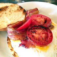 Fried Egg Sandwich with Bacon and Tomato