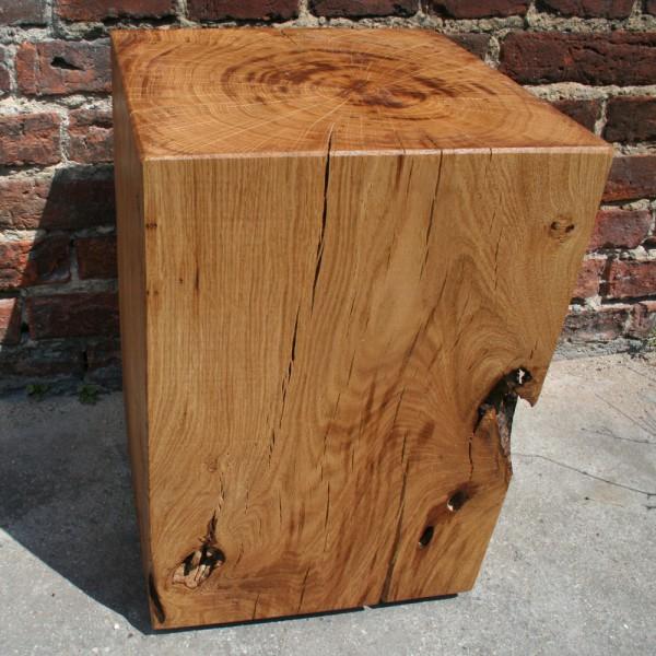 Eichenklotz Couchtisch 35cm X 35cm X 50cm