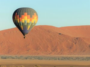 Ballon over Namib Desert