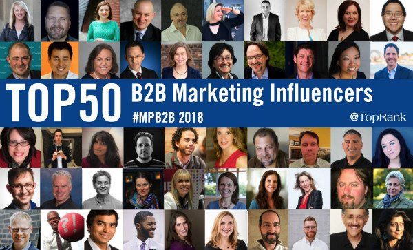 Scott Sweeney in Top 50 of B2B Marketing Influencers