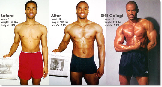 muscle gain how to gain weight photos taken 12 weeks apart