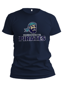 Pirates Primary Unisex T-Shirt- Navy