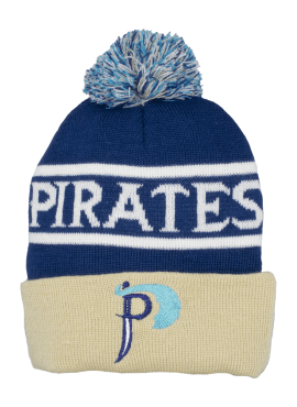 Pirates Alternate Puff Beanie- Navy/Gold
