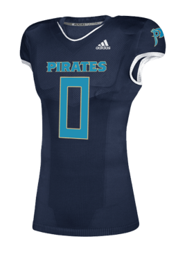 Adidas Authentic Custom/Player Pirates Home Jersey- Navy