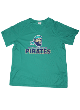 Pirates Primary Womens Wicking Tee- Teal