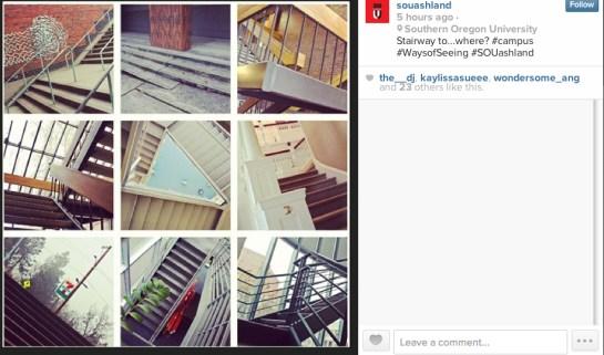 grid stairway