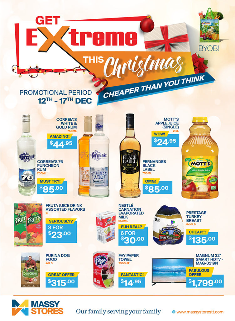 Extreme Deals 12th 17th December 2018 Massy Stores