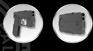 Pistol Mirip Smartphone