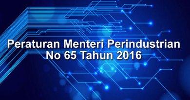 Peraturan Menteri Perindustrian No 65 Tahun 2016