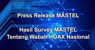 Press Release: Hasil Survey MASTEL Tentang Wabah Hoax