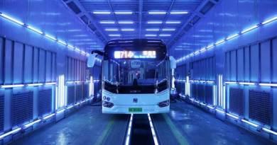 Bersihkan Virus Corona Bus Dicuci Dengan Sinar Ultraviolet