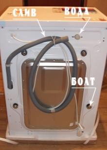Règles pour connecter la machine à laver à l'approvisionnement en eau et les eaux usées. Instructions pas à pas pour connecter la machine à laver