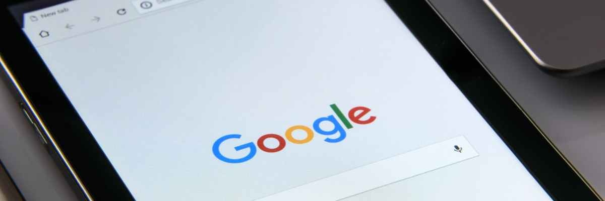 Cover photo for this article showing Google's landing page for web searches.