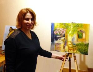 итальянский дворик на мастер-классе живописи маслом