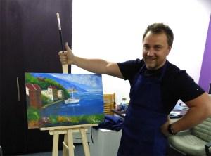 морской пейзаж на мастер-классе художника Пугача Андрея