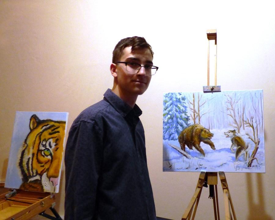 пейзаж на мастер классе художника