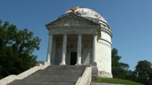 Illinois Monument Inside was a list of all how fought. very spectacular structure