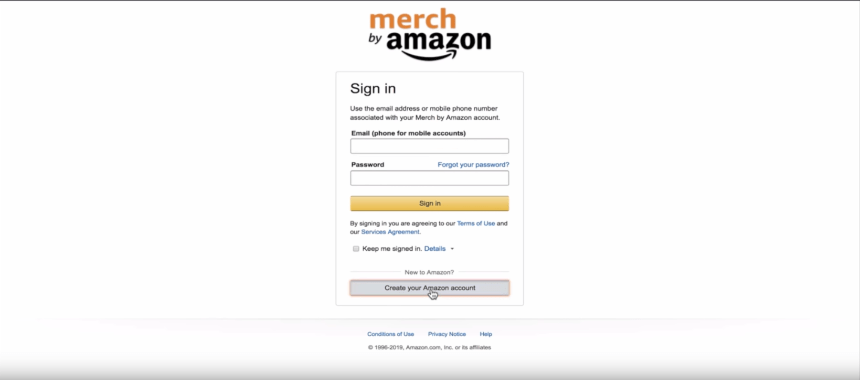 How To Create A Merch By Amazon Account