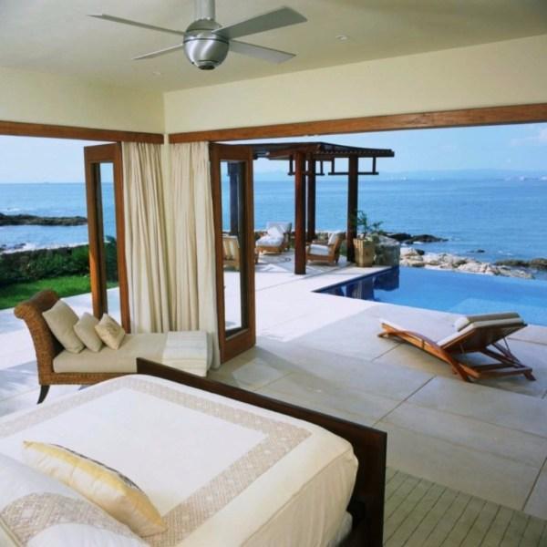 modern bedroom with ocean view 50 Dazzling Master Bedrooms With An Ocean View – Master Bedroom Ideas
