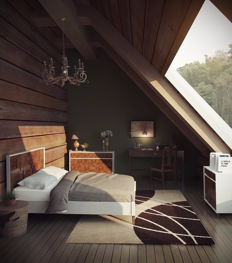 12 Masterfully Decorated Attic Bedrooms  Master Bedroom Ideas