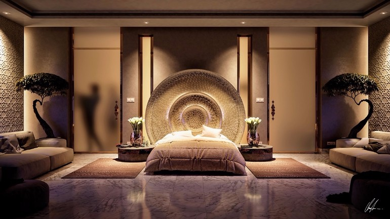 Stunning Bedrooms with Unique Lighting Designs  Master