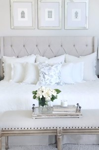 10 Calm and Charming All White Bedrooms  Master Bedroom Ideas