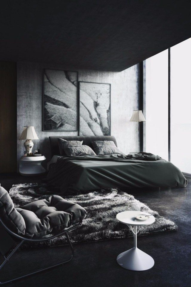 Mystery & Charm with 10 Black Bedrooms - Master Bedroom Ideas