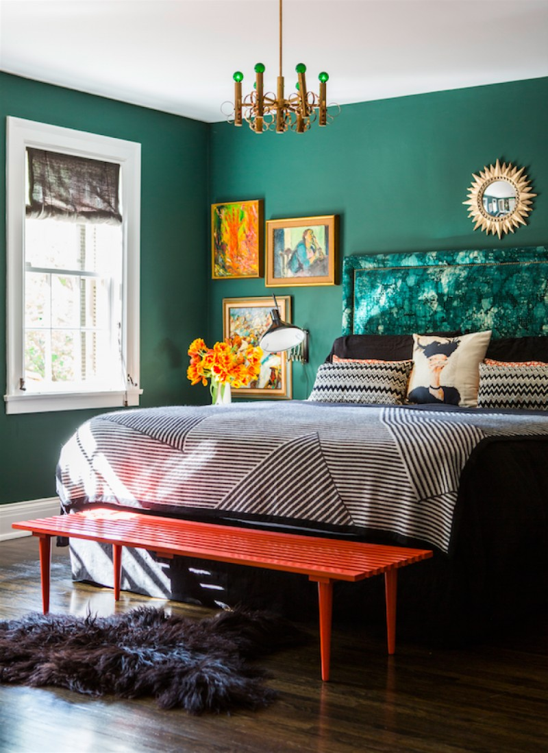 living rooms with dark grey feature walls gallery of decorating ideas 10 stunnning emerald green bedroom designs – master ...