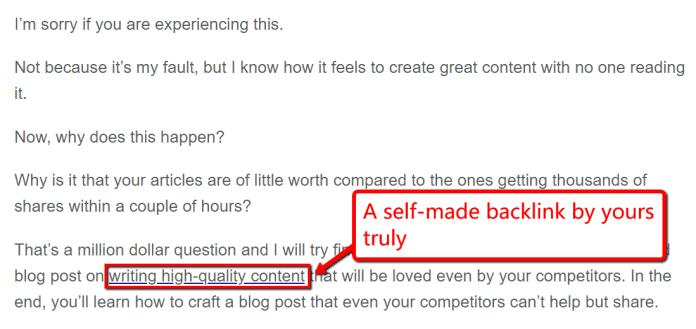 Contextual link guest blogging