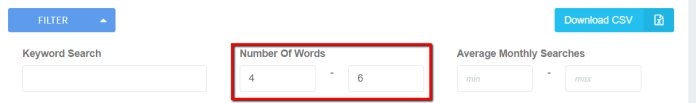 Keyword Revealer Filters