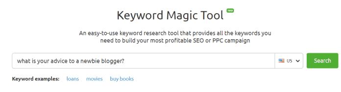 Quora and SEMrush Keyword Research