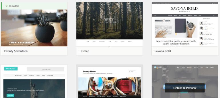 WordPress Themes Gallery