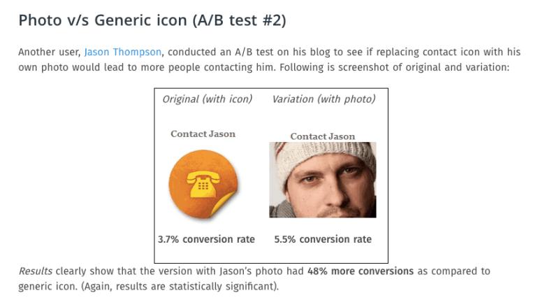 human photos increase sales and conversions