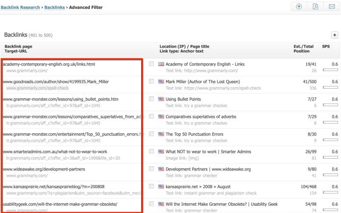searchmetrics backlinks research