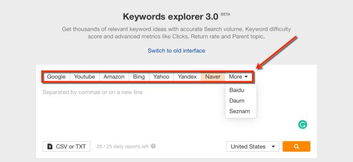 Ahrefs Keyword Explorer 3.0