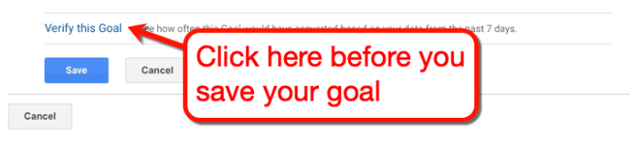 Verify This Goal Button